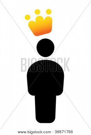VIP man icon