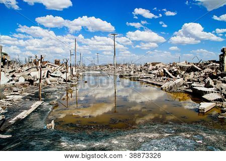 Abstract picture of ecological problems, shot in Epecuen (Dead City), Argentina.