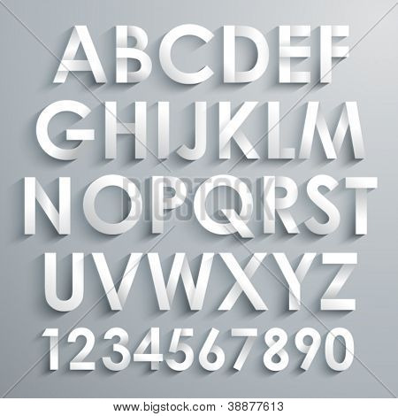 Vektor-Alphabet-Set