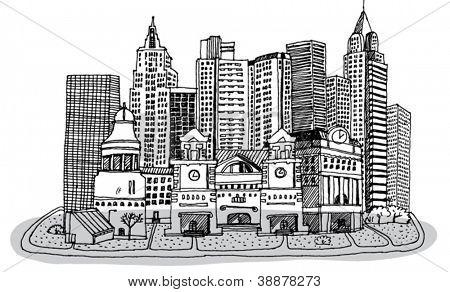 Sketch of New York