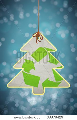 An image of a nice christmas recycling sign