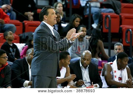 NEW YORK-NOV 3: St. John's Red Storm head coach Steve Lavin on the sidelines against the Sonoma State Seawolves at Carnesecca Arena on November 3, 2012 in Jamaica, Queens, New York.