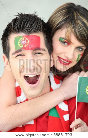 Two Portugal fans