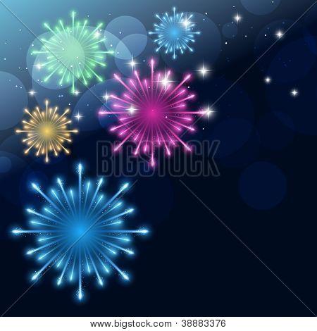 vector colorful fireworks design background