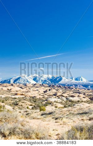 La Sal Mountains, Arches NP, Utah, USA