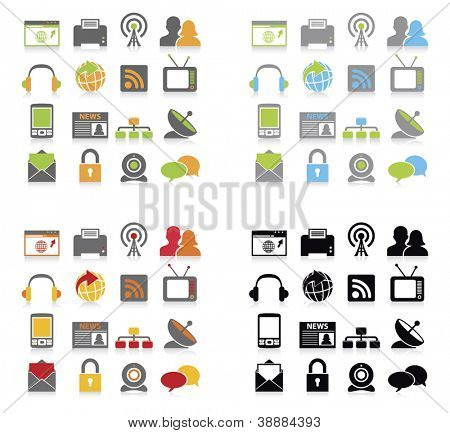 Communication icons set.vector illustration