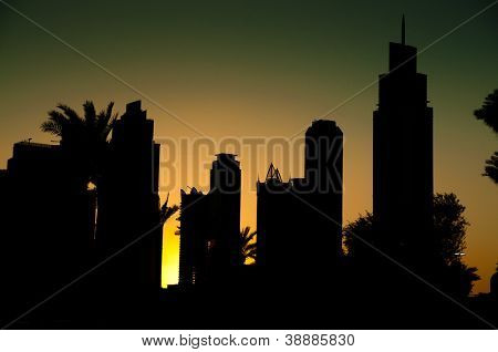 beautiful view of dubai city at night