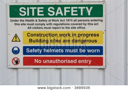 Health & Safety Sign