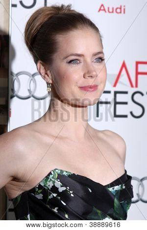 LOS ANGELES - NOV 3:  Amy Adams arrives at the AFI Film Festival 2012