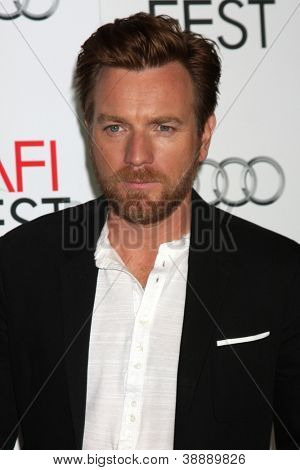 LOS ANGELES - NOV 4:  Ewan McGregor arrives at the AFI Film Festival 2012