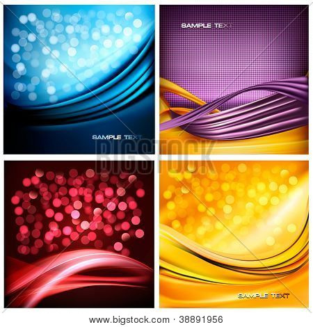 Set of holiday colorful abstract backgrounds. Vector illustration