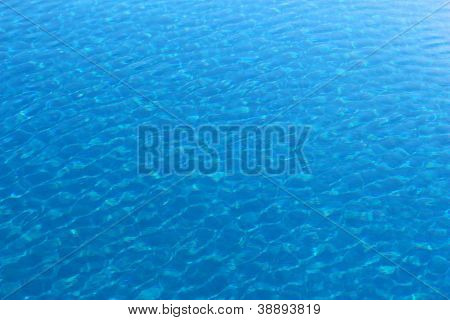 Blue Clear Water Of A Pool