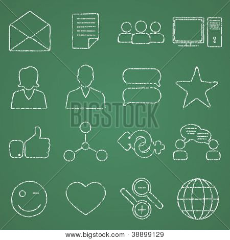 Vector illustration on the theme of social networks