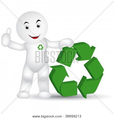 organic man. Please, recycle for the protection of the earth