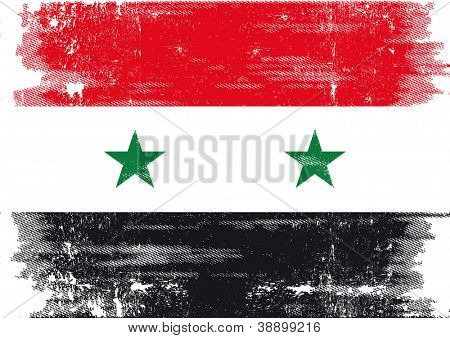 Grunge Flag of Syria. A grunge syrian flag for you