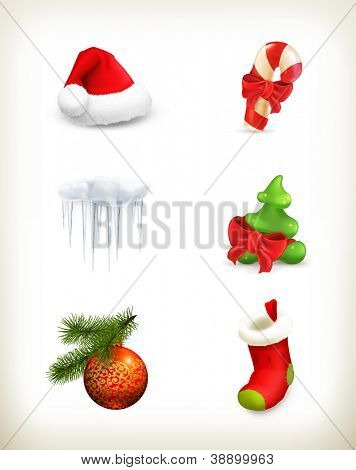 Christmas set, vector