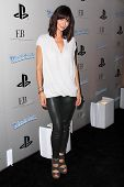 LOS ANGELES - OCT 27:  Catherine Bell arrives at EBMRF And PlayStation Epic Halloween Bash at Privat