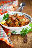 Spicy Moroccan Stewed Zucchini poster