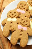 foto of flour sifter  - gingerbread man for christmas - JPG