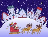 picture of snowy hill  - Silent Night  - JPG