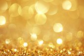 foto of glitter sparkle  - Shiny golden lights - JPG