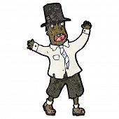 image of hobo  - cartoon crazy hobo man - JPG