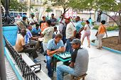 SANTIAGO DE CUBA, CUBA- JAN. 21: People play the chess on central square on January 21, 2010. in San