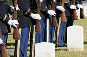 Honor Guard And Headstones