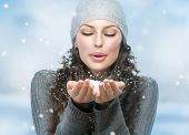 picture of windy weather  - Christmas Girl - JPG