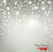 stock photo of sparkles  - Elegant Christmas background with snowflakes and place for text - JPG