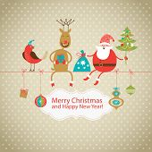 stock photo of christmas claus  - Greeting card - JPG