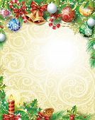 pic of holly  - Vintage Christmas background - JPG