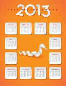 2013 year of the snake calendar - JPG Version