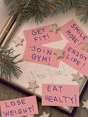 New Year's resolutions in the holiday arrangement