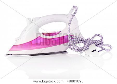Steam iron isolated on white