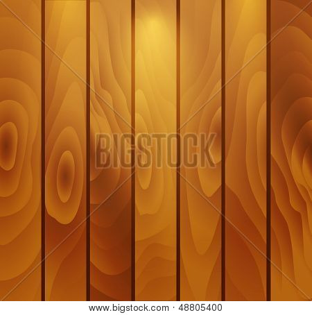 Vertical wooden panel with backlight