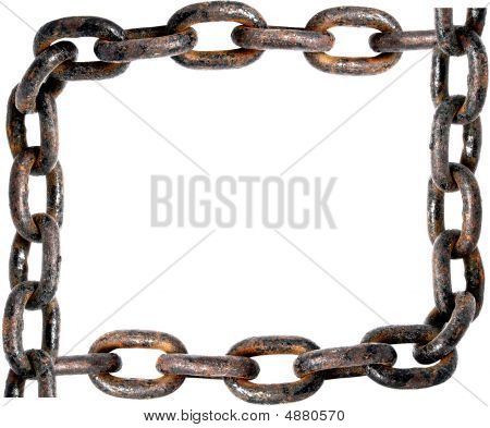 Old Rusty Chain Frame