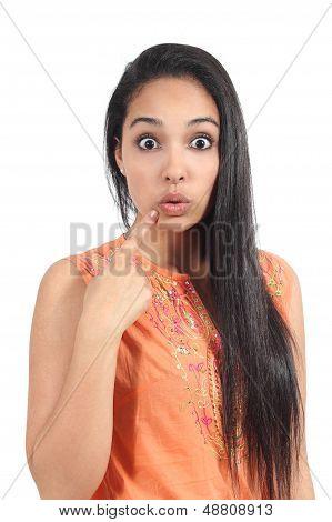 Beautiful Islamic Woman Surprised