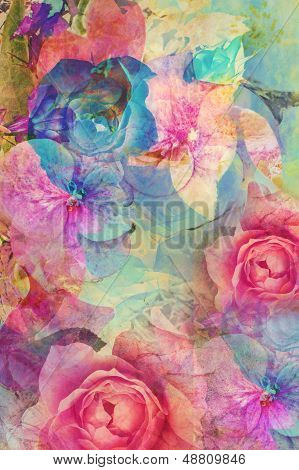 Vintage Floral, Romantic Background