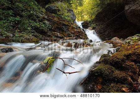 Urlatoarea waterfall in Bucegi Mountains, Busteni city
