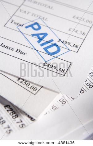 bezahlten Rechnungen