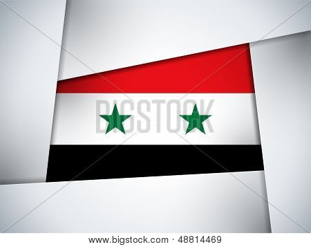 Syria Country Flag Geometric Background