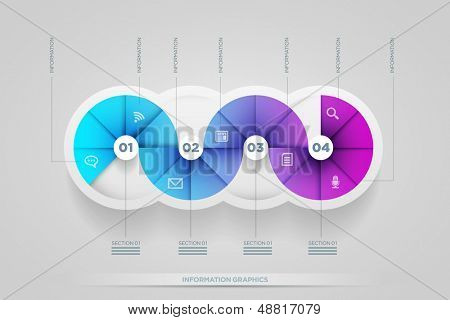 Vector abstract infographic design template. lights, shadows, color shapes etc. layered separately in vector file.