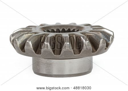 Conical Pinion, Isolation On A White Background, With Clipping Path