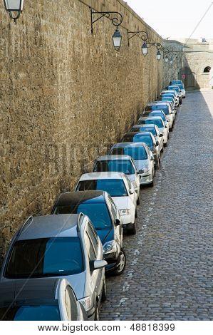 neat parking line