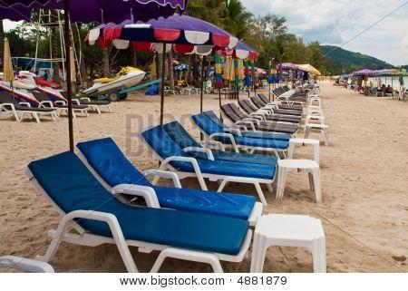 Blue Beach-chairs