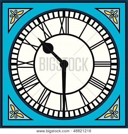 Roman Numeral Clock At Half Past Ten