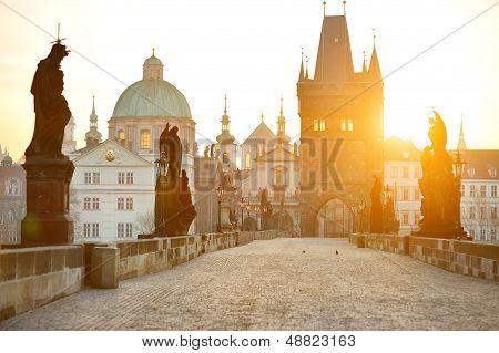 Charles Bridge (karluv Most) And Lesser Town Tower
