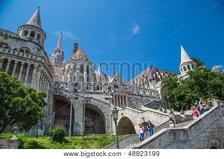 Eurtopa, Hungary, Budapest, Fishermen's Bastion. One Of The Landmarks Of The City.