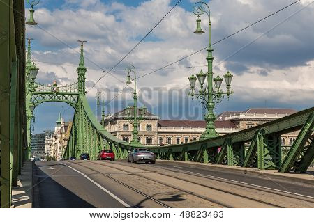 Liberty Bridge In Budapest.